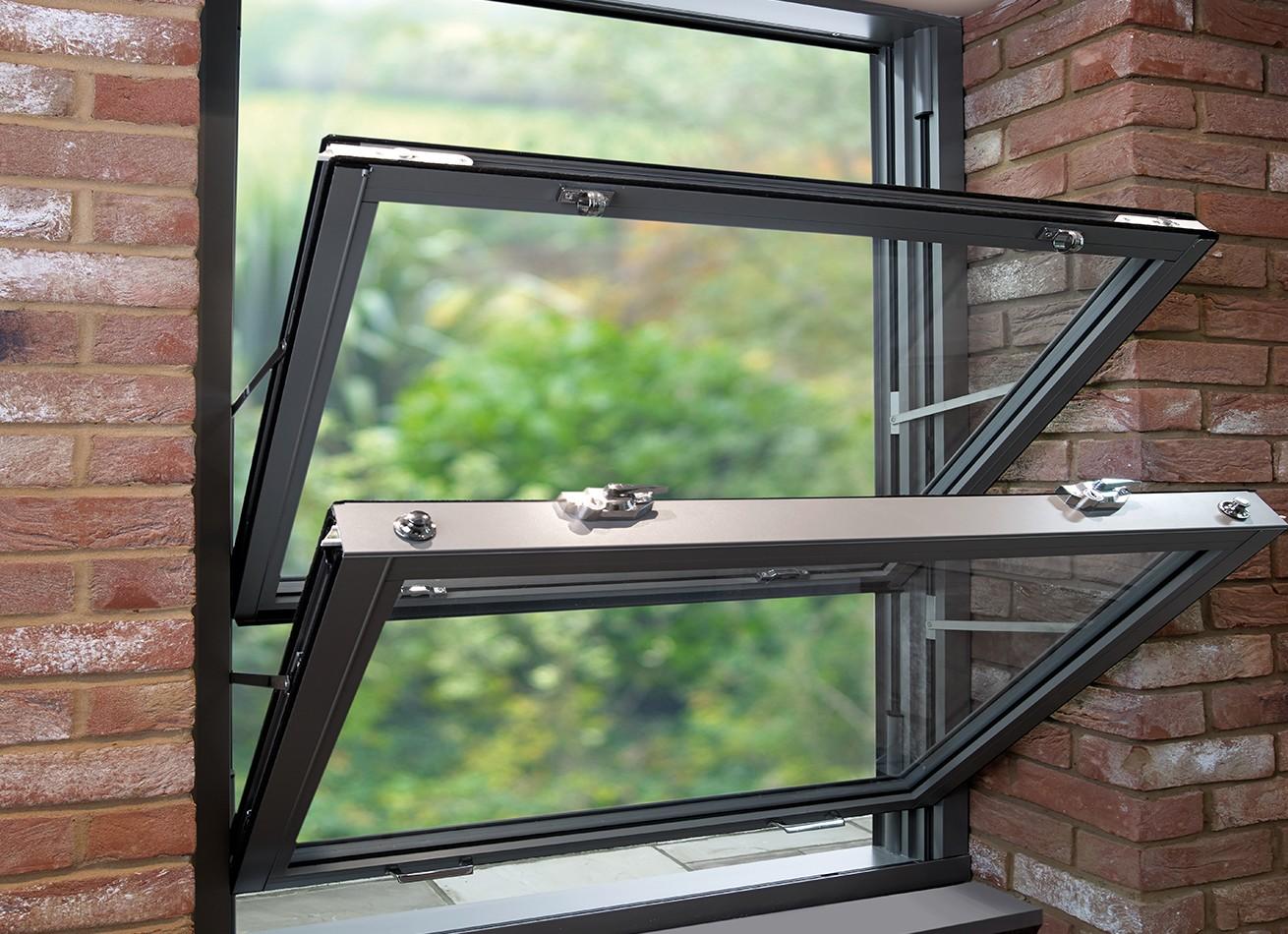 Aluminium Sash Windows : Double glazed upvc windows doors bi fold